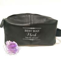 Groomsmen Personalised Emboidered Washbag