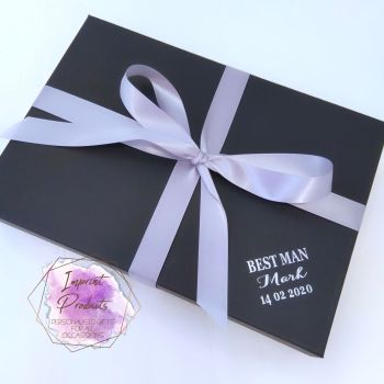 Wedding Party Black Gift Box