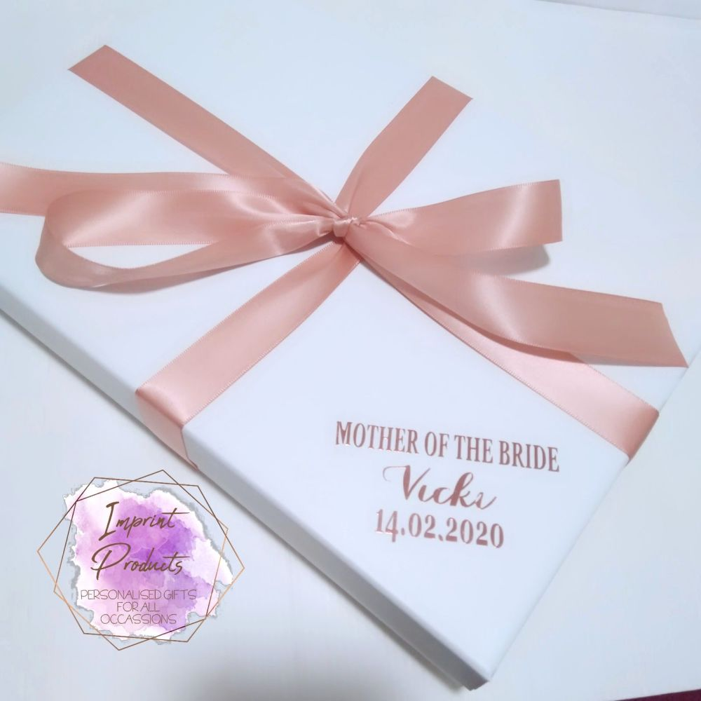 Wedding Party White Gift Box