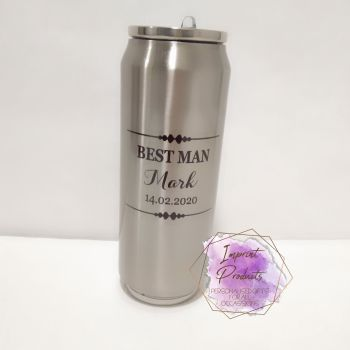 Personalised Stainless Steel Drinks Bottle Can