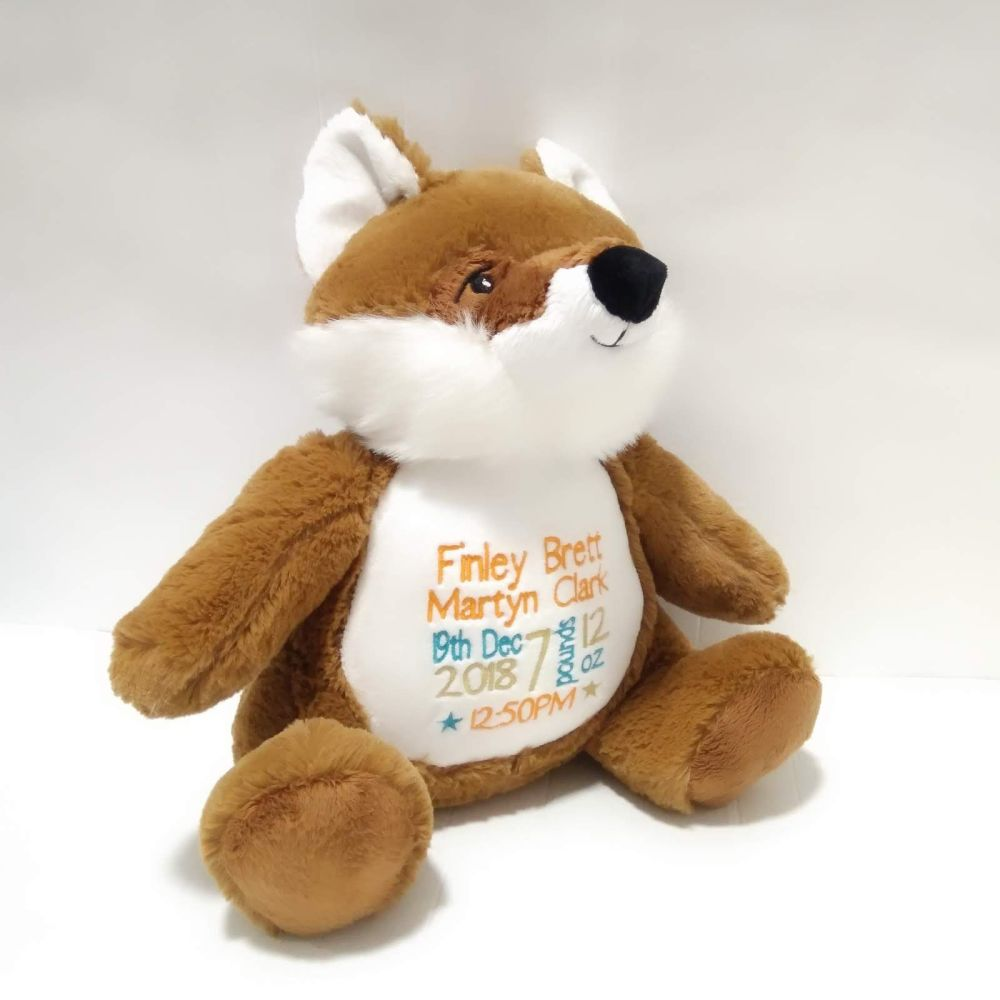 Personalised Fox Teddy Soft Toy