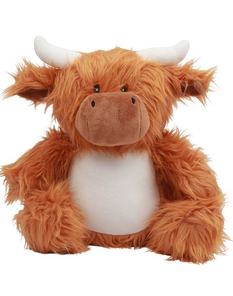 Personalised Highland Cow Teddy Soft Toy | Cow Keepsake Gift | Embroidered