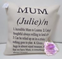 Personalised Mum Linen Style Cushion