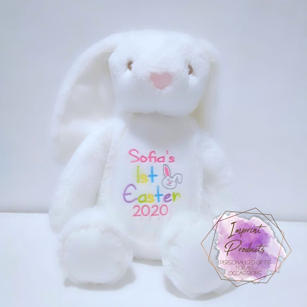 1st Easter Personalised Bunny Soft Toy | First Easter Keepsake Bunny | Embr