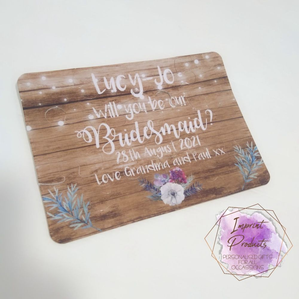 Will You Be My Bridesmaid Jigsaw Puzzle