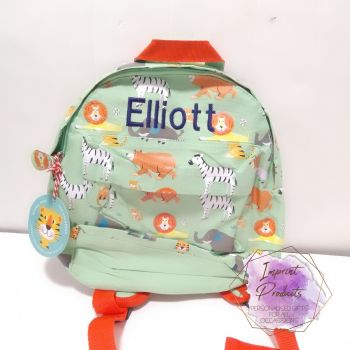 Personalised Child's Mini Animal Park themed Backpack