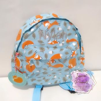 Personalised Child's Mini Fox themed Backpack