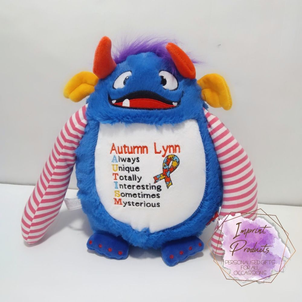 Autism Awareness Soft Toy by Imprint Products | Autism Teddy