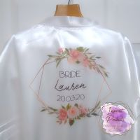 Personalised Geometric Wreath Bridal Robes