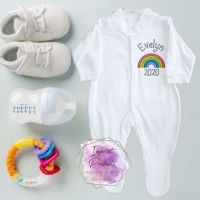 Rainbow Baby Sleepsuit - Personalised