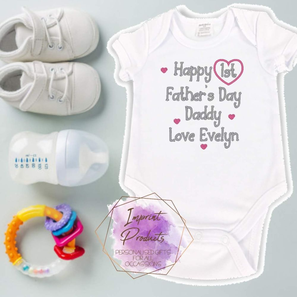 First Father's Day Baby Vest | Dad from Baby Daughter