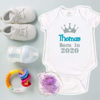 Born In Personalised Baby Vest