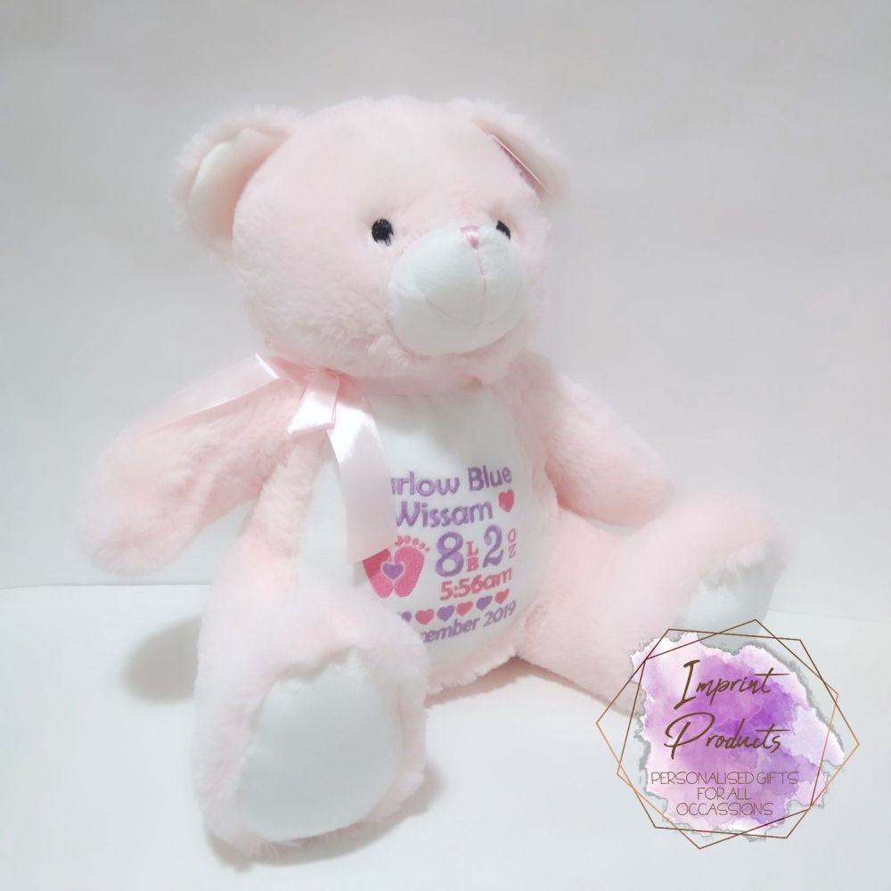 Personalised Pink Teddy Soft Toy