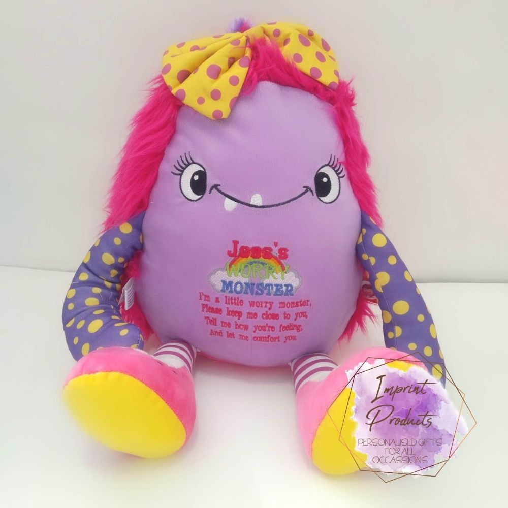 Pink Worry Monster Anxiety Toy | Child Stress Anxiety Toy