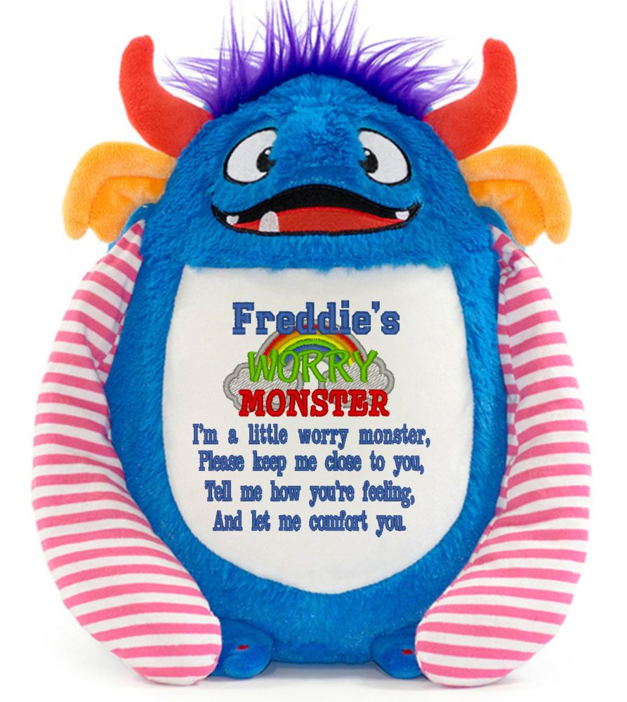 Blue Worry Monster Anxiety Toy