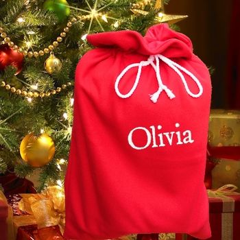 Personalised Fully Lined Santa Sacks