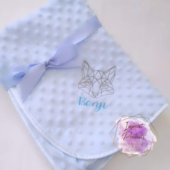 Tribal Fox Personalised Baby Bubble Blanket