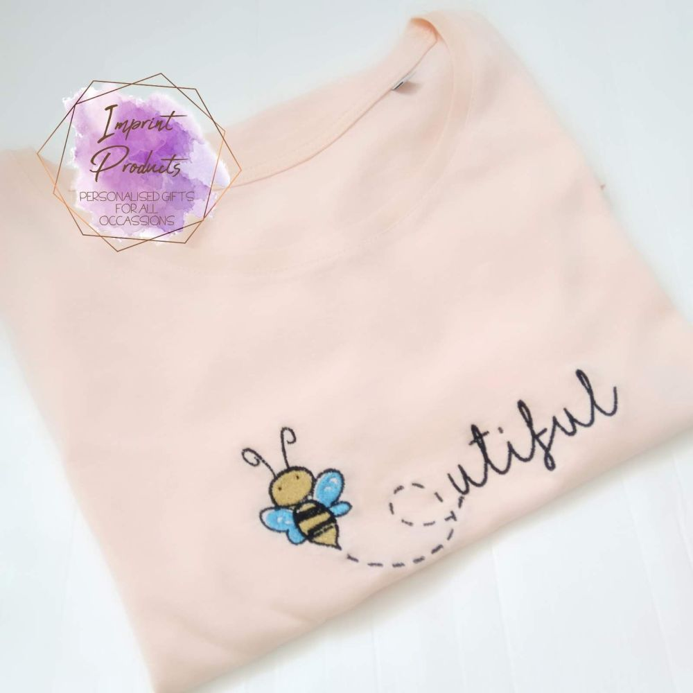 Bee-utiful Embroidered T-Shirt