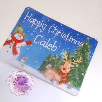 Personalised Christmas Scene Jigsaw - 12 or 63 pieces