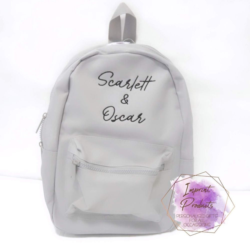 Personalised Script Font Mini Fashion Backpack