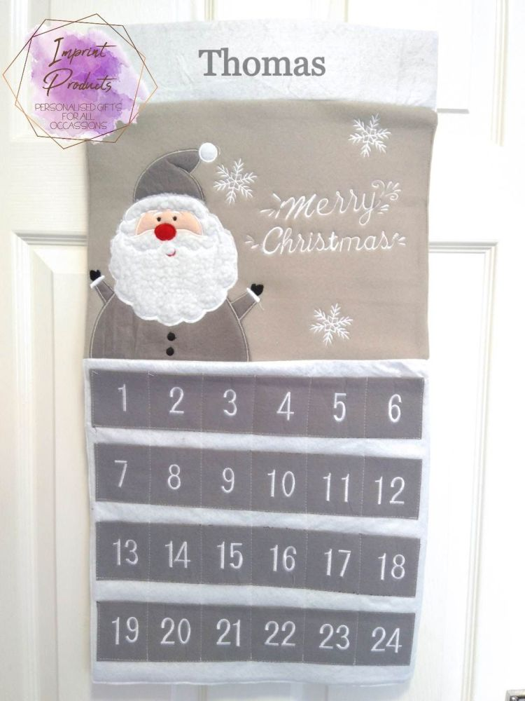 Personalised Grey Advent Calendar
