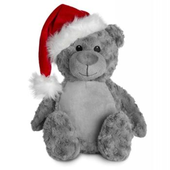 Personalised Christmas Bear Grey