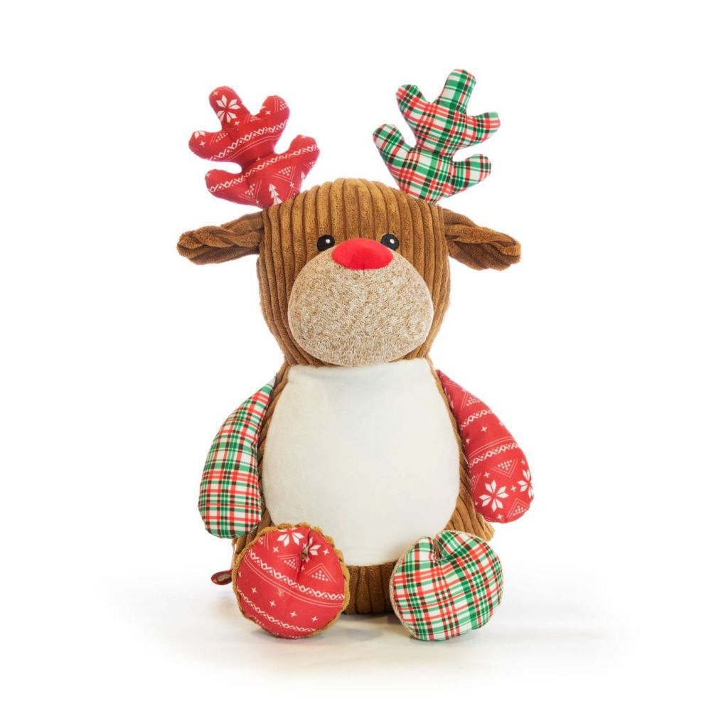 Cubbies Harlequin Deer Red | Babies First Christmas Keepsake
