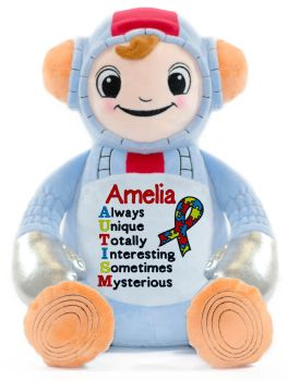 Autism Awareness Teddy Personalised Astronaut