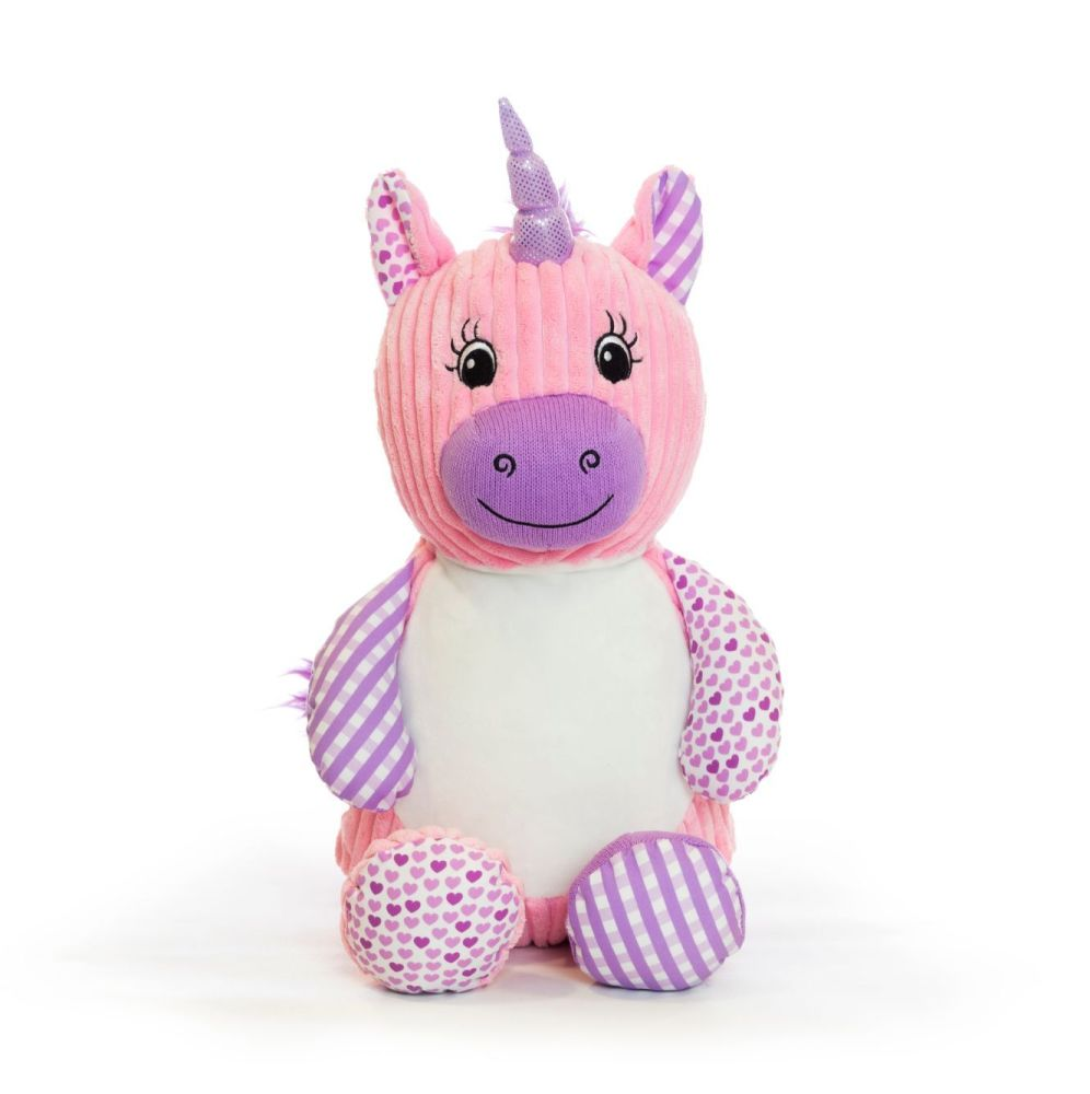 Cubbies Harlequin Unicorn   Personalised Baby Girl Gift
