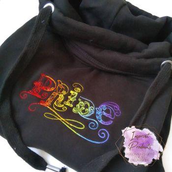 Pride Unisex Embroidered Sweatshirt or Cowl Hoodie