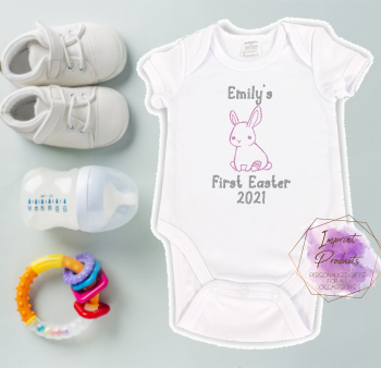 First Easter Baby Vest