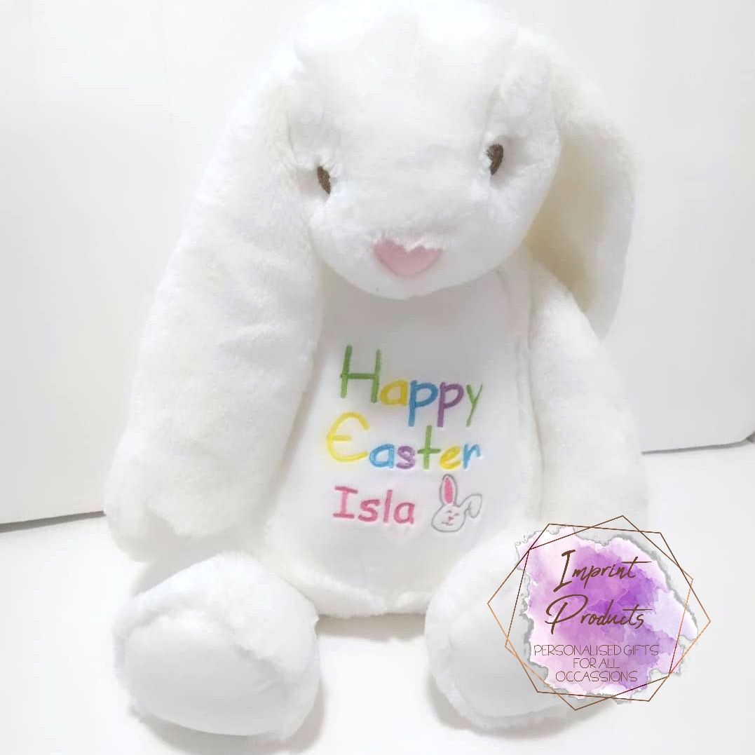 Personalised Easter Bunny |  Embroidered Easter Bunny Gift