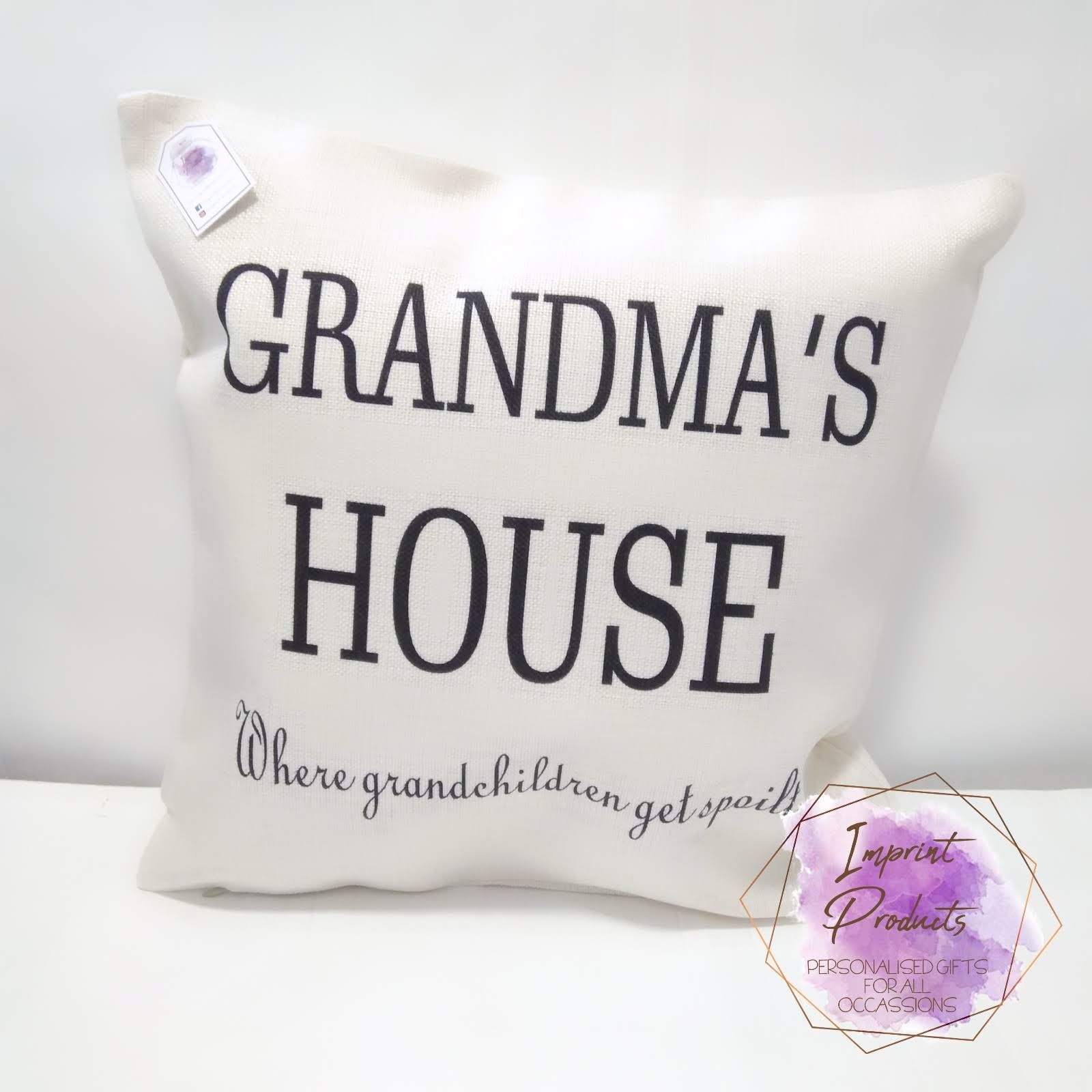 Gift for Grandma | Mother's Day Gift | Grandma's House cushion