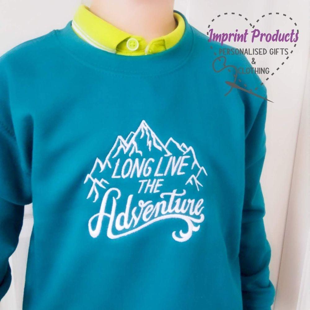 Long Live The Adventure Unisex Children's Sweatshirt