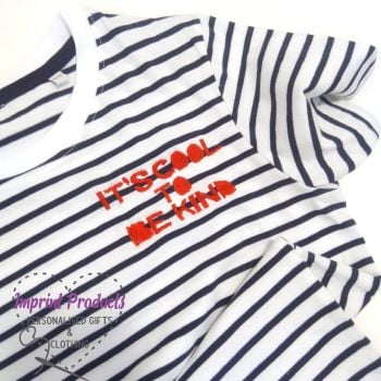 It's Cool To Be Kind Children's Striped T-Shirt