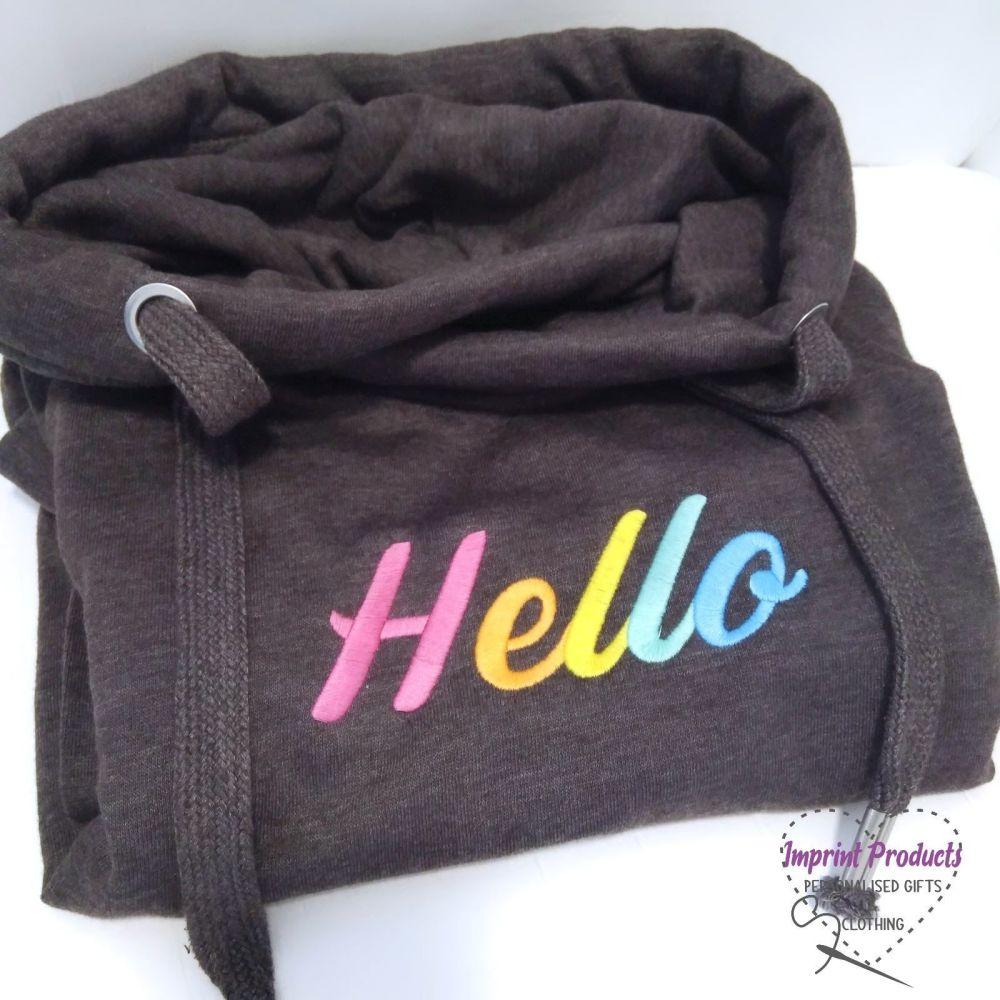 Hello Sweatshirt or Cowl Hoodie   Hello Hoodie