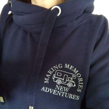 Making Memories New Adventures Motorhome Sweatshirt or Cowl Hoodie