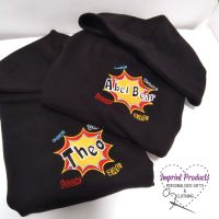 Children's Personalised Superhero Comic Hoodie