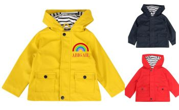 Rainbow Embroidered Rain Coat Jacket