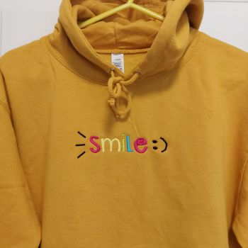 Smile embroidered hoodie