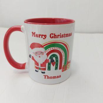Personalised Christmas Rainbow Mug
