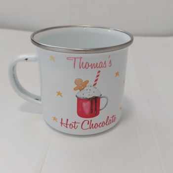 Enamel Hot Chocolate Mug