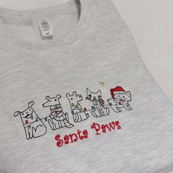 Santa Paws Embroidered Sweatshirt