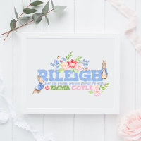 Peter Rabbit Personalised Name Print