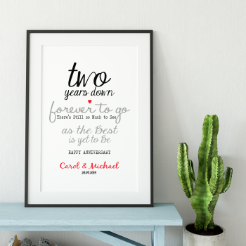 Forever to Go Anniversary Print