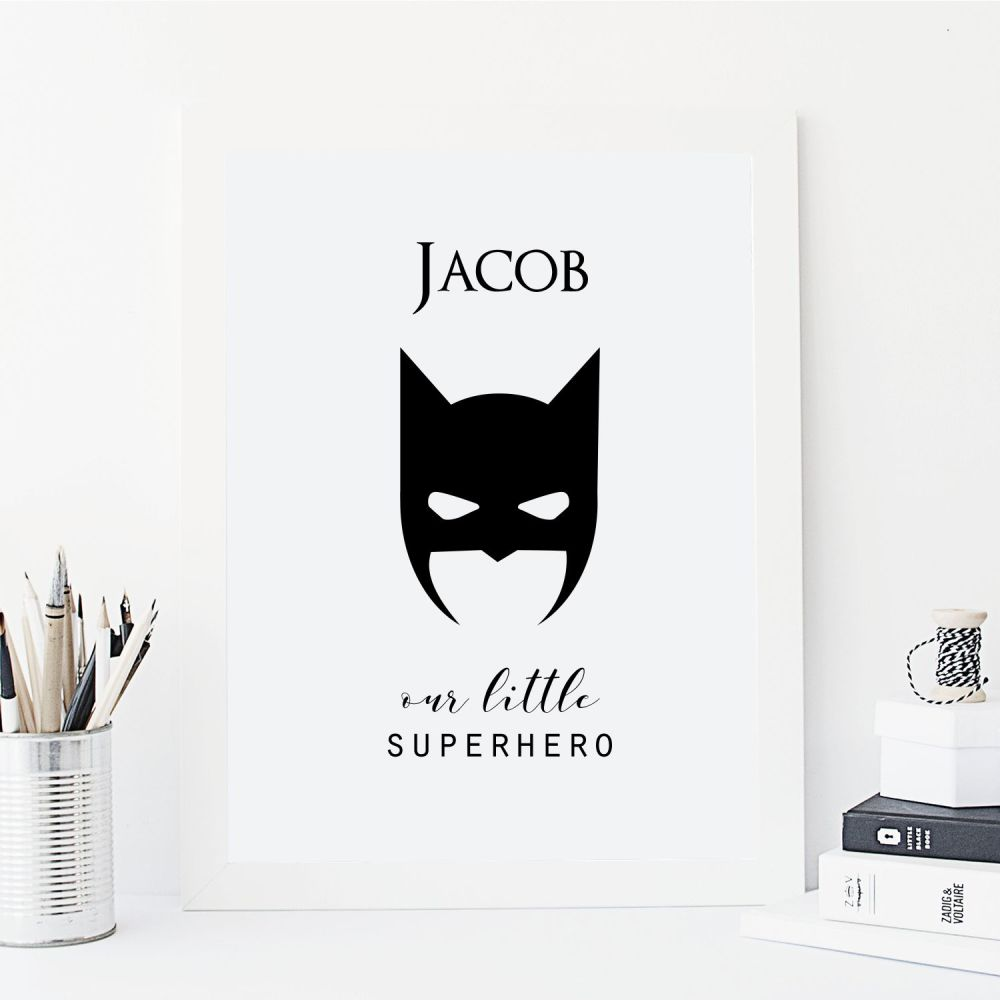 Our little superhero print