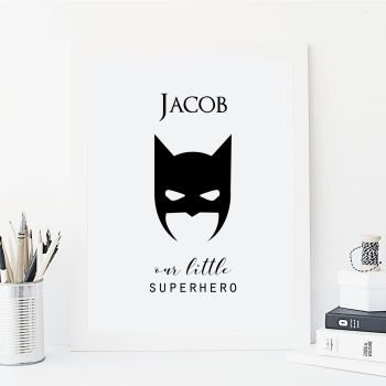 Our little superhero print