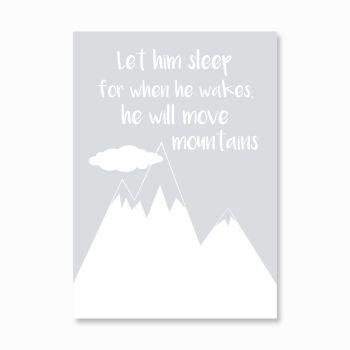 Let him sleep print