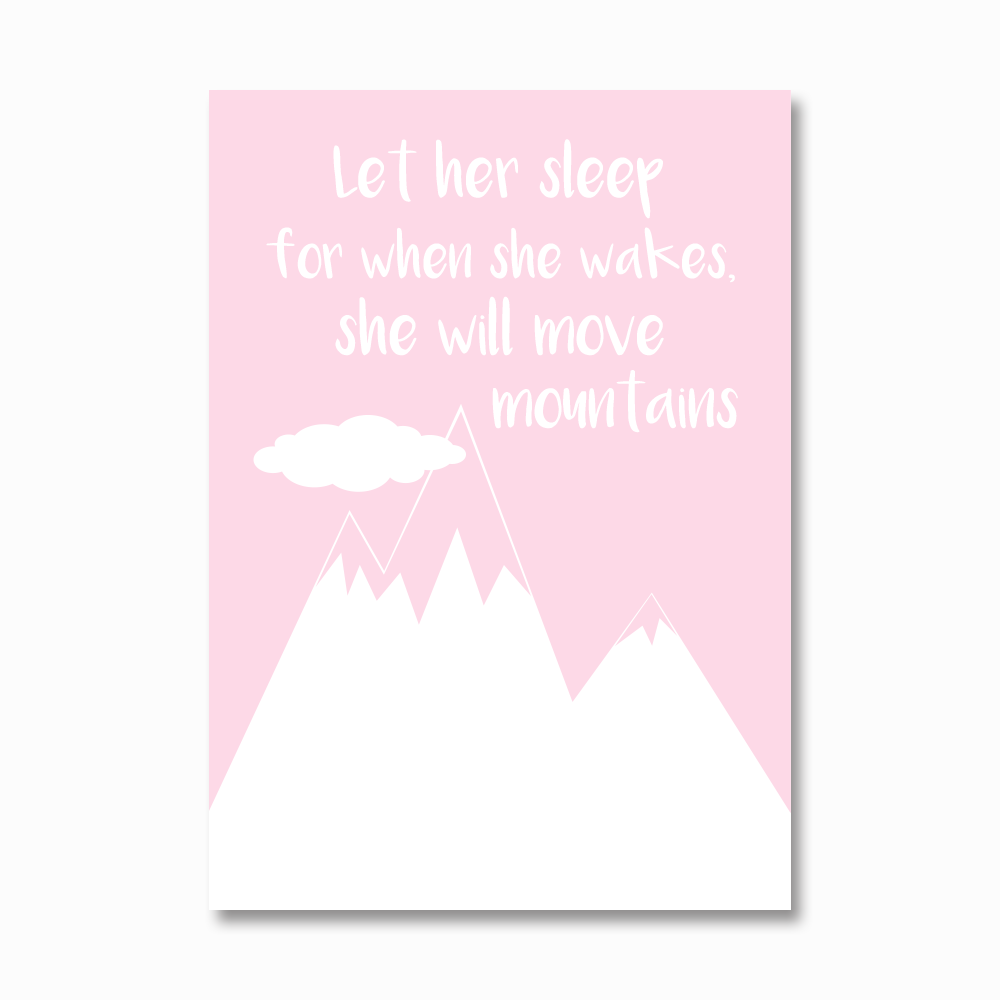 Let her sleep print