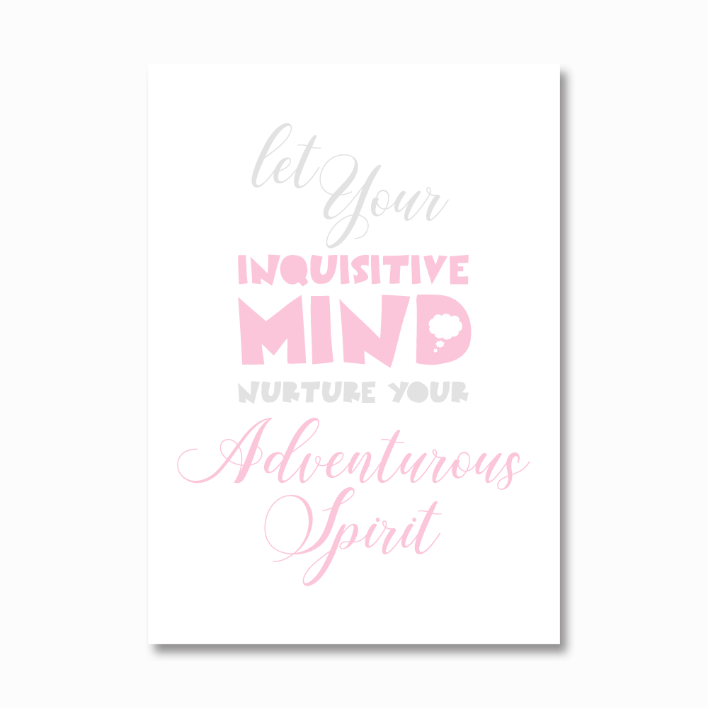 Inquisitive mind girls print
